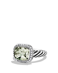 David Yurman Noblesse Ring With Prasiolite And Diamonds Silver