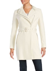 Kenneth Cole Panelled Zip Ponte Jacket Opal
