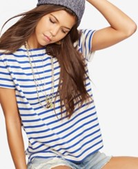 Denim And Supply Ralph Lauren Striped Jersey T Shirt Cape Cod Stripe Cream Royal