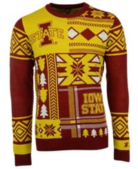 Forever Collectibles Men's Iowa State Cyclones Patches Christmas Sweater