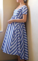 Thierry Colson Romy Blue Nautical Stripes Dress