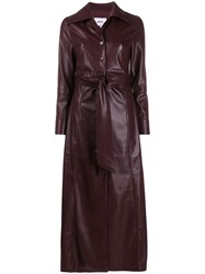 Nanushka Tarot Vegan Leather Dress Purple