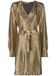 Paul Smith Ps By Longsleeved Dress Metallic