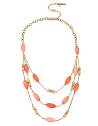 Kenneth Cole Coral Canyon Shell And Bead Illusion Necklace