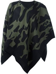 Hydrogen Camouflage Cape Scarf Black