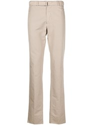 Officine Generale Straight Leg Chinos Neutrals