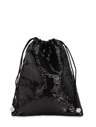 Ca And Lou Ballerina Pailettes Sequined Pouch Black