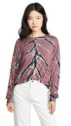 Young Fabulous And Broke Tie Dye Top Soft Plume Frame Wash