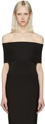 Alexander Wang T By Black Needle Knit Off The Shoulder Top