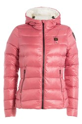 Blauer Quilted Down Jacket With Hood Magenta