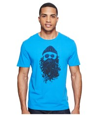Life Is Good Salty Beard Smooth Tee Marina Blue Men's T Shirt