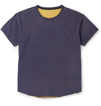 Chimala Reversible Cotton Jersey T Shirt Blue