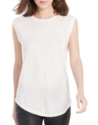 Polo Ralph Lauren Back Keyhole Sleeveless Tee White