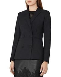 Reiss Mossy Double Breasted Blazer Night Navy
