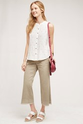 Pilcro Cropped Wide Leg Chinos Sand