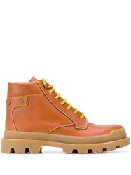 Prada Hiking Style Ankle Boots Brown