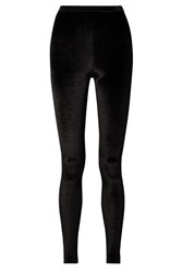 Tom Ford Stretch Velvet Leggings Black