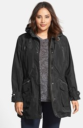Plus Size Women's Kristen Blake Military Anorak Black