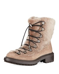 Aquatalia By Marvin K Lorena Shearling Boots Taupe
