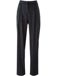 Cedric Charlier Pinstriped Trousers Blue