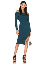 Lavish Alice Rib Knit Bandeau Dress Teal