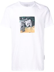 Les Benjamins Graphic Print T Shirt White