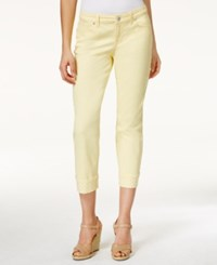Styleandco. Style And Co. Petite Curvy Fit Rhinestone Hem Capri Jeans Only At Macy's Soft Sun