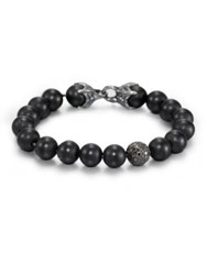David Yurman Black Onyx Beaded Pave Bracelet