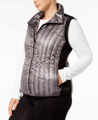 Calvin Klein Performance Plus Size Quilted Vest Metallic Granite