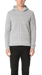 S.N.S. Herning Final Hooded Zip Sweater Neuron Grey