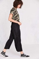 Silence And Noise Sasha Accordion Pleat Culotte Pant Black
