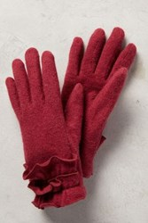 Anthropologie Clasina Gloves Red