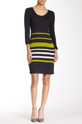 Sandra Darren Scoop Neck Sweater Dress Multi