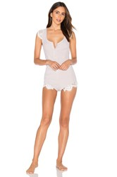 For Love And Lemons Sleeper Romper Beige