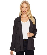 Mod O Doc Signature Waffle Easy Fit Notch Collar Jacket Carbon Women's Coat Gray