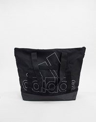 Adidas Tote Bag In Black With Mesh Detail