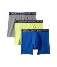 Kenneth Cole Reaction 3 Pack Basic Boxer Brief Cobalt Light Grey Sulphar Underwear Multi