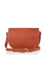 A.P.C. Andrea Python Embossed Cross Body Bag Brown