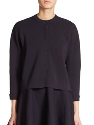 Burberry Cropped Knit Cardigan Navy