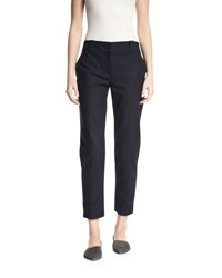 The Row Blake Straight Leg Ankle Pants Navy