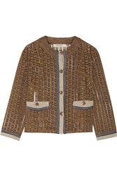 Etro Cotton Blend Jacket Brown