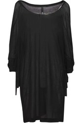 Y 3 Oversized Draped Modal Top Black