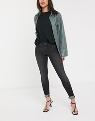 Only Shape Deluxe High Waisted Denim Jeans Black